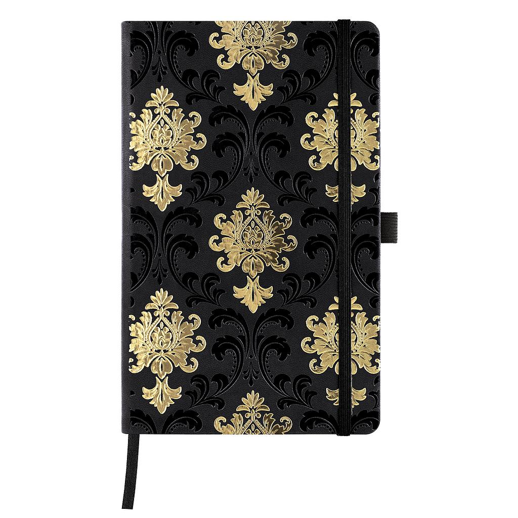 QC6-NOTEBOOK COPPER & GOLD NR-464-BAROQUE GOLD
